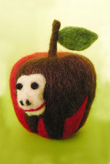 りんごりら・フェルト作家Yurinokoの立体イラスト
