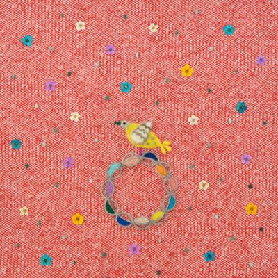小さい花と鳥・フェルト作家Yurinokoのイラスト