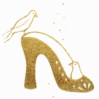 フェルト作家Yurinokoの鳥と靴のイラスト