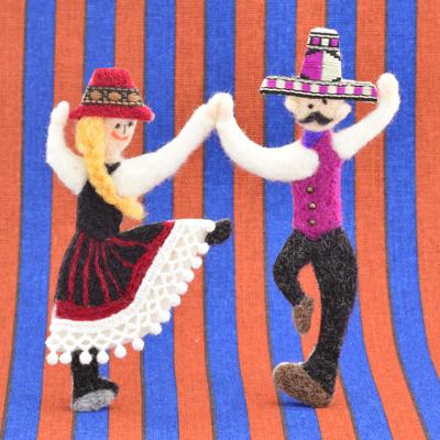 踊る人・フェルト作家Yurinokoの立体イラスト