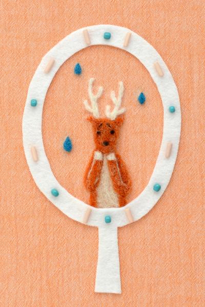 フェルト作家Yurinokoの鹿のイラスト