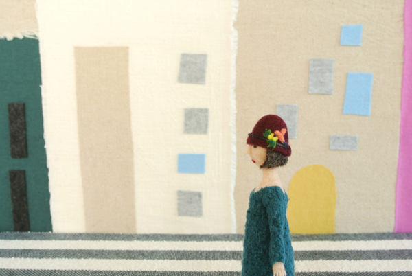 人形アニメーション・フェルト作家Yurinokoの立体イラスト