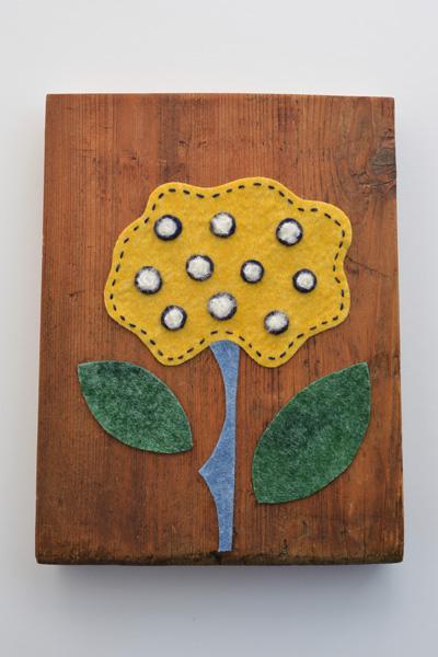 フェルト作家Yurinokoの花のイラスト