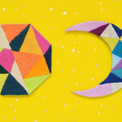 フェルト作家Yurinokoの幾何学のイラスト