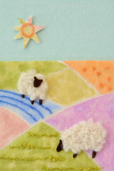 フェルト作家Yurinokoの羊のフェルトイラスト