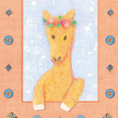 フェルト作家Yurinokoの馬のイラスト