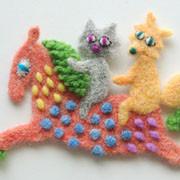 馬と猫とキツネ・フェルト作家Yurinokoのイラスト
