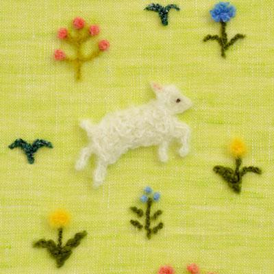 フェルト作家Yurinokoの子羊のイラスト