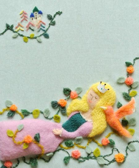 小学館美的・フェルト作家Yurinokoの眠り姫のイラスト