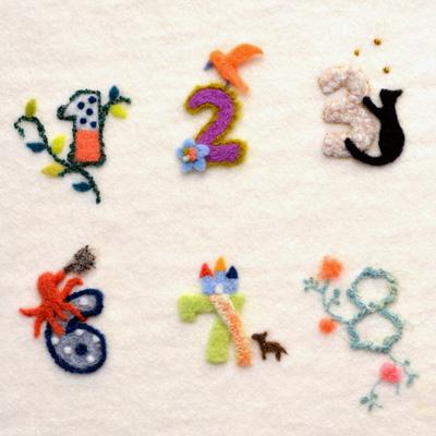 フェルト作家Yurinokoの飾り文字のイラスト