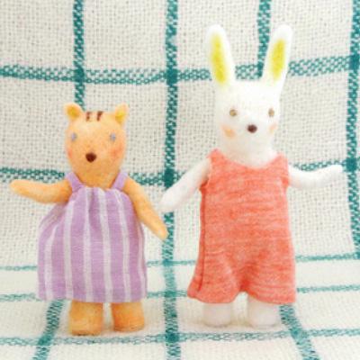 小学館美的・フェルト作家Yurinokoのリスとウサギのイラスト