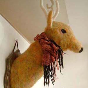 鹿の剥製・フェルト作家Yurinokoの立体フェルト作品