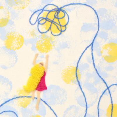フェルト作家Yurinokoの親指姫のイラスト