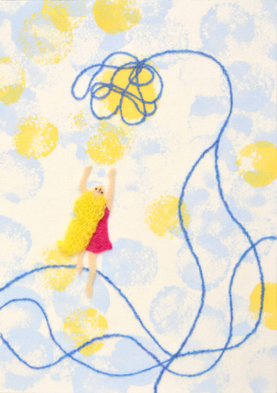 フェルト作家Yurinokoの少女のイラスト