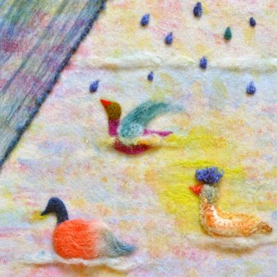 フェルト作家Yurinokoの水鳥のイラスト